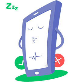 phone checker mascot