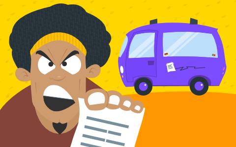 Der Zettel am Auto Telefonstreich